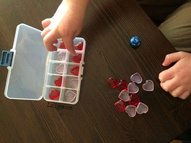 Valentine's Day Ten Frame Activity- fun math idea for kids