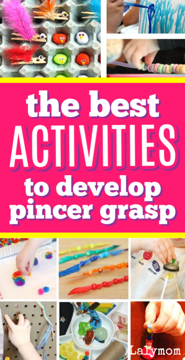 Fine Motor Skills Focus: 15 Pincer Grasp Activities for toddlers and preschoolers #finemotor #toddler #preschool