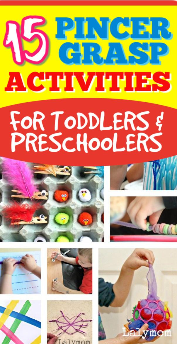 15 Pincer Grasp Activities for preschoolers and toddlers - great fine motor skills activities #finemotor #toddler #preschool