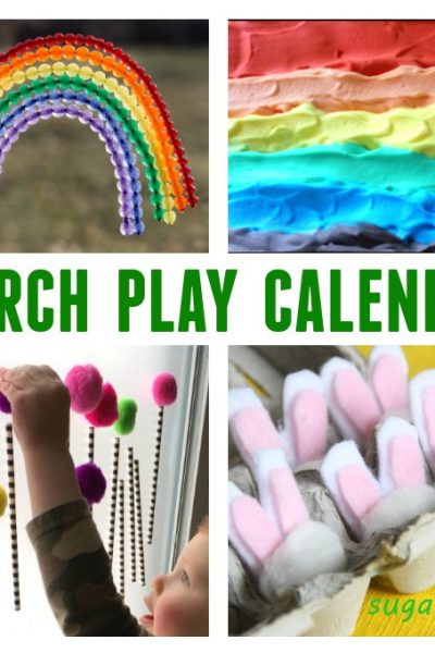 March Play Calendar - 31 Days of March Themed Crafts and Activities for Kids - Click, Print and Play!