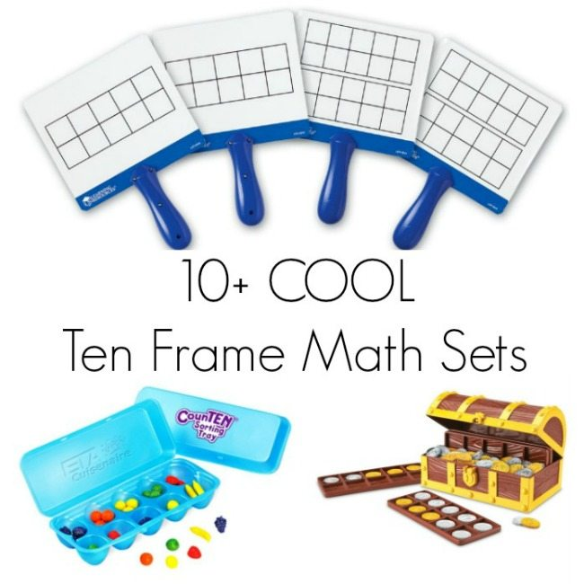 10+ Cool Ten Frame Math Sets for Kids - Helps kids learn math facts, perfect for common core math.