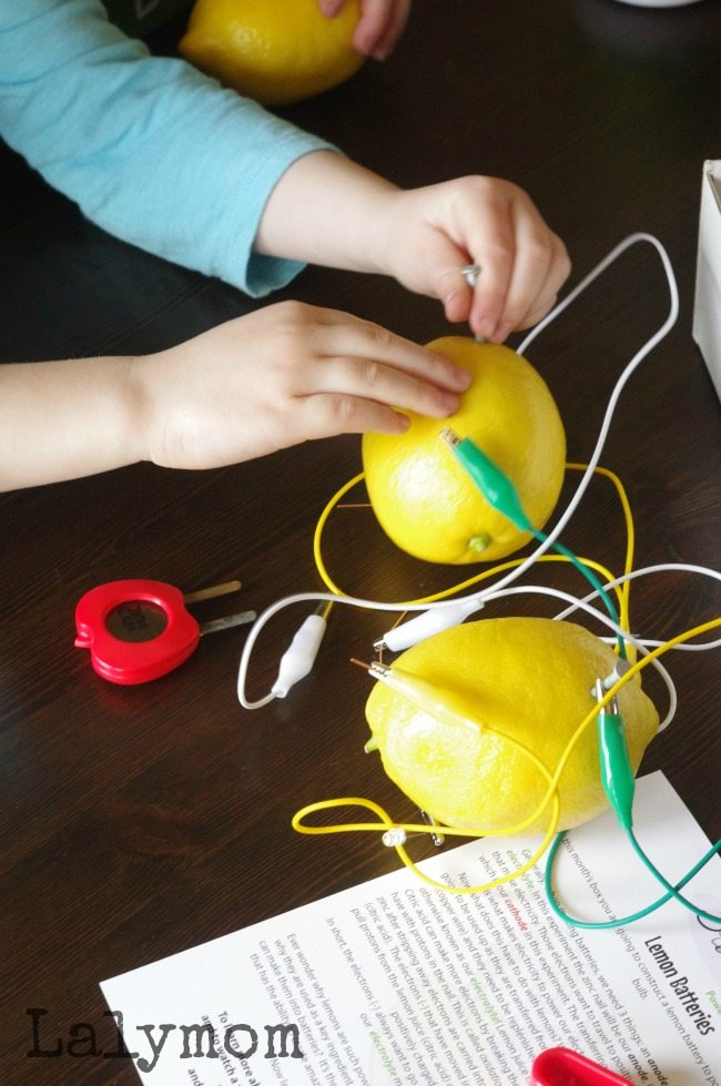 Lemon Battery Experiment and 4 STEM Extension Activities - Get into the science spirit with the classic science experiment for kids- the lemon battery! Sponsored by Green Works