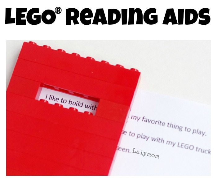 E42 LEGO Crafts and Activities for Kids for Endless Fun featured by top US lifestyle blogger, Marcie in Mommyland: asy LEGO Reading Aids for Kids - Great for encouraging reluctant readers!