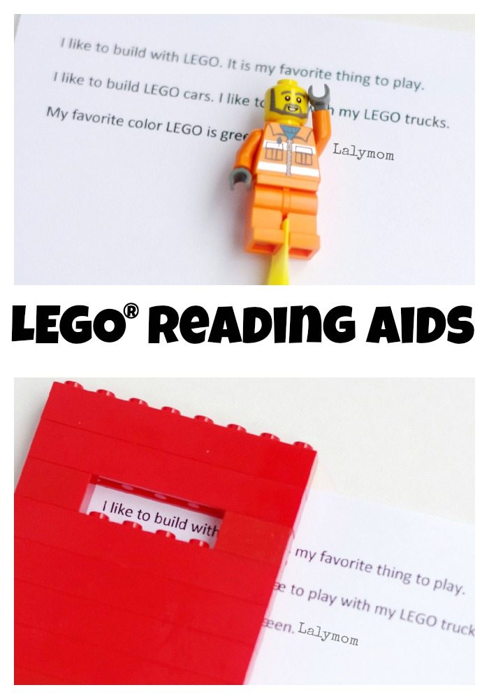 LEGO Reading Aids for Kids - Engage your reluctant readers and eager readers alike with these fun, simple LEGO® literacy aids.