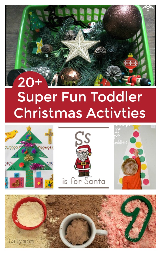 20+ Super Fun Toddler Christmas Activities - the kids would have so much fun with these! #christmas #christmasideasforkids
