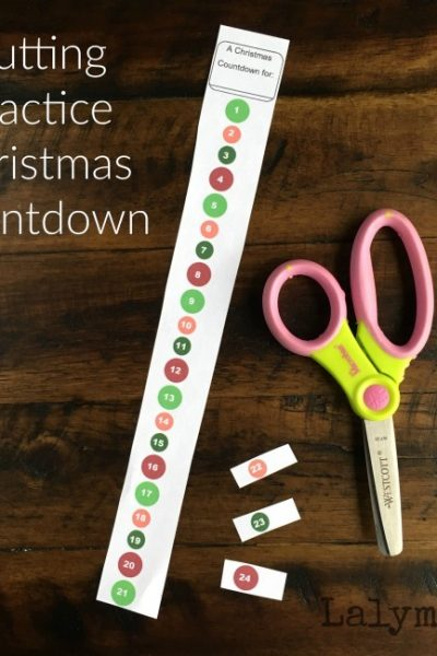 Cutting Practice Christmas Countdown Activities for Kids - Free Printable!