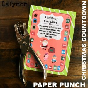 Paper Punch Christmas Countdown - What a cool Christmas Countdown Idea for Kids!