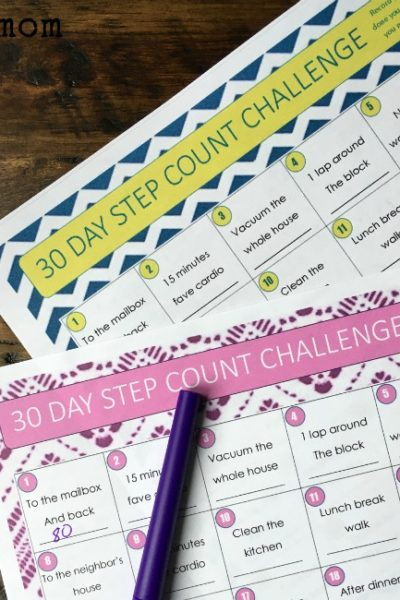 30 Day Step Challenge for Fitness Trackers – Free Printable