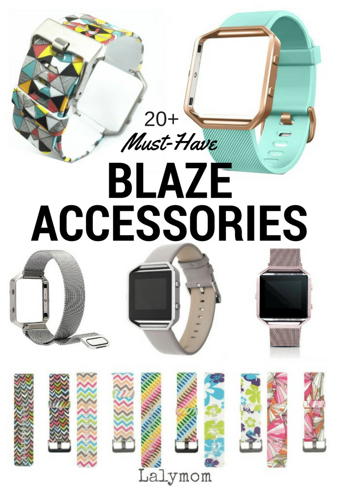 20+ Must Have Fitbit Blaze Bands and Accessories - Leather bands, rose gold, silver, silicone and more.