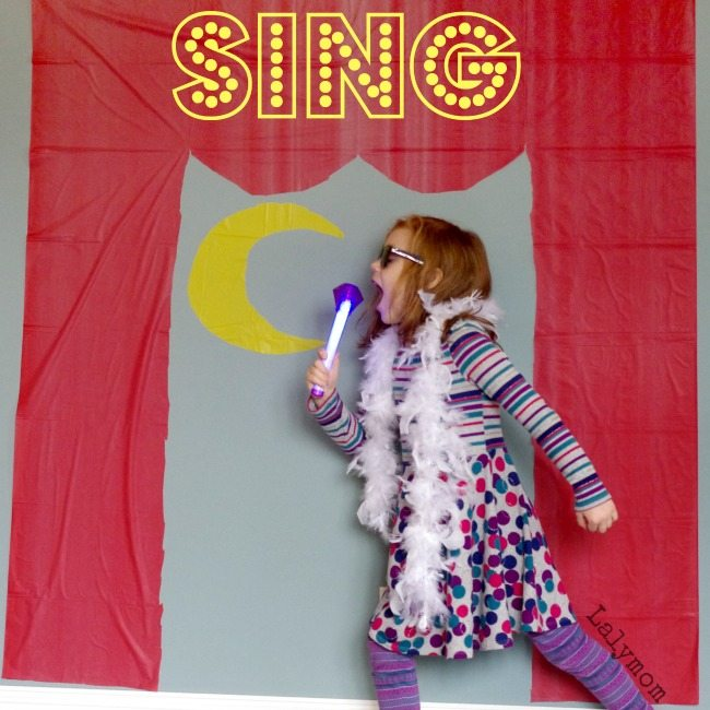 Sing Movie Activity for Kids - Easy Moon Theatre Stage Set - non-marking, -static cling hack!