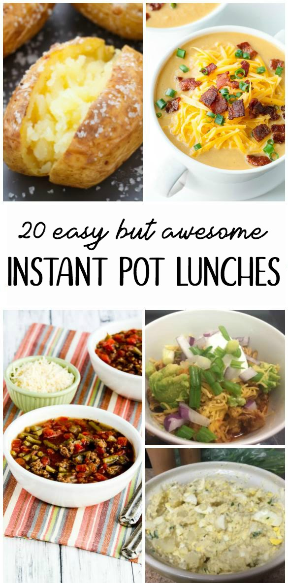 20 Easy But Awesome Instant Pot Lunch Recipes #InstantPot #pressurecookerrecipes #quick #healthy #easyrecipes