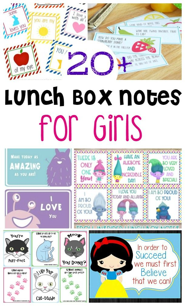 Print 20+ Lunch Box Notes for Girls (or boys!) Parent Hack: Print a whole school year's worth of lunchbox notes at once and you'll be ready for the whole year! Get them right here. OMG My daughter would love these! #backtoschool #lunch #lunchboxnotes #lovelanguages #kids #schoollunch #printable #trolls #fruit #princess #cute