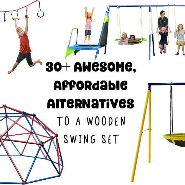 30+ Metal Swing Sets, Tree Swings and Stand Alone Backyard Playground Options