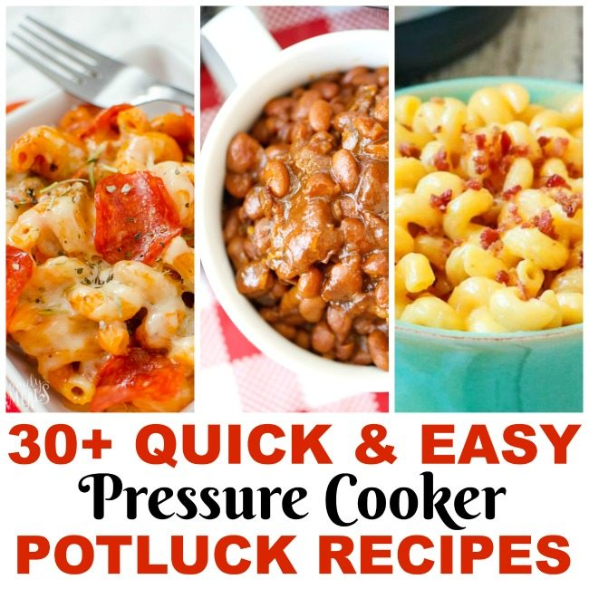 30+ Quick and Easy Instant Pot Pressure Cooker Recipes for Picnics and Potluck