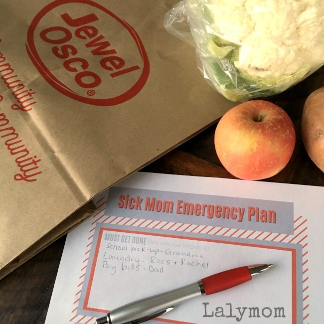 Free Printable Sick Mom Emergency Plan helps everyone pitch in when they ask how to help.