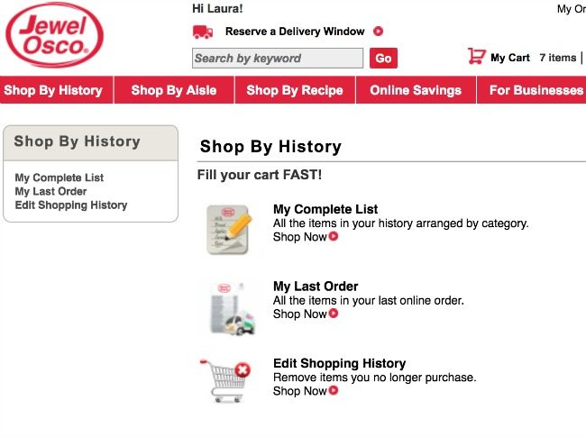 Jewel Osco Grocery Delivery and Pickup Dashboard