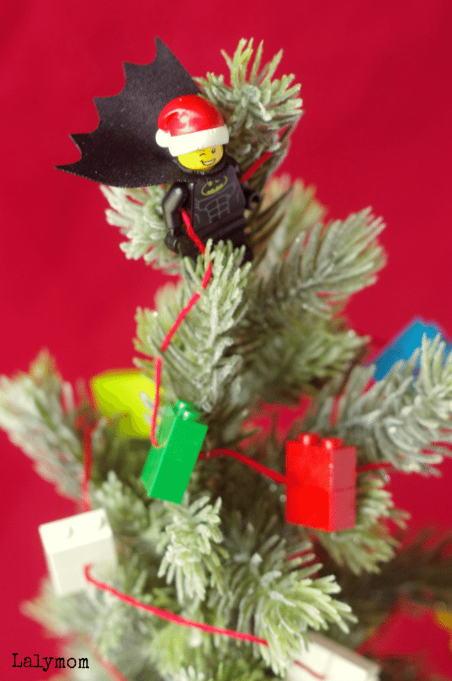 LEGO Batman Themed Mini Christmas Tree with LEGO Garland Tutorial what a fun ideas