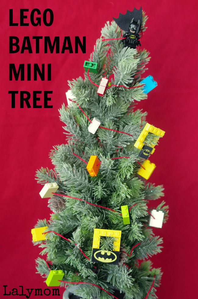 Lego Batman Mini Christmas Tree with LEGO Garland
