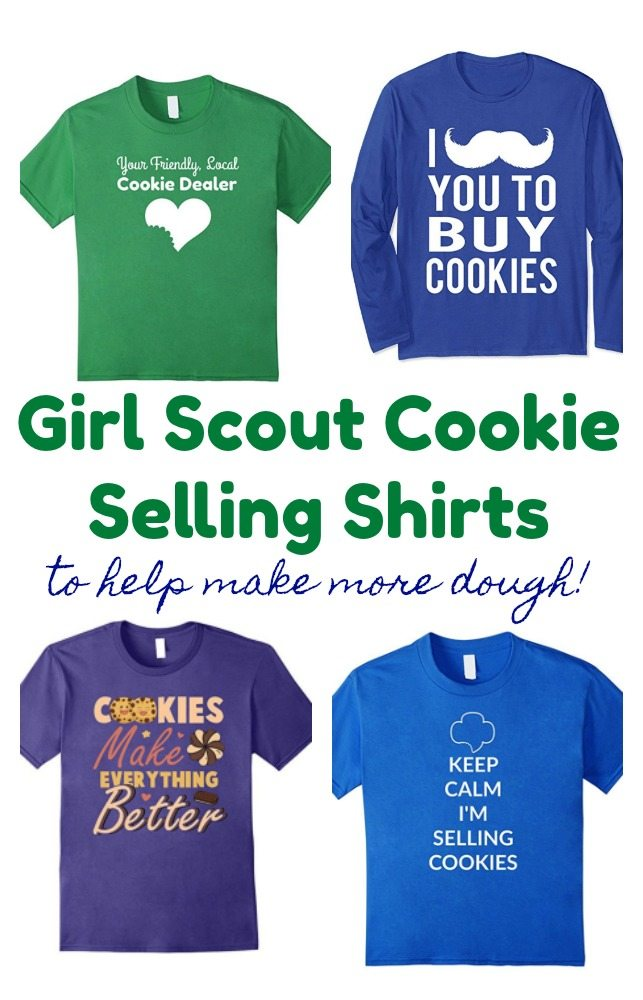 Girl Scout Cookie Selling Shirts - what a cute idea to sell more cookies or to wear to cookie booths!