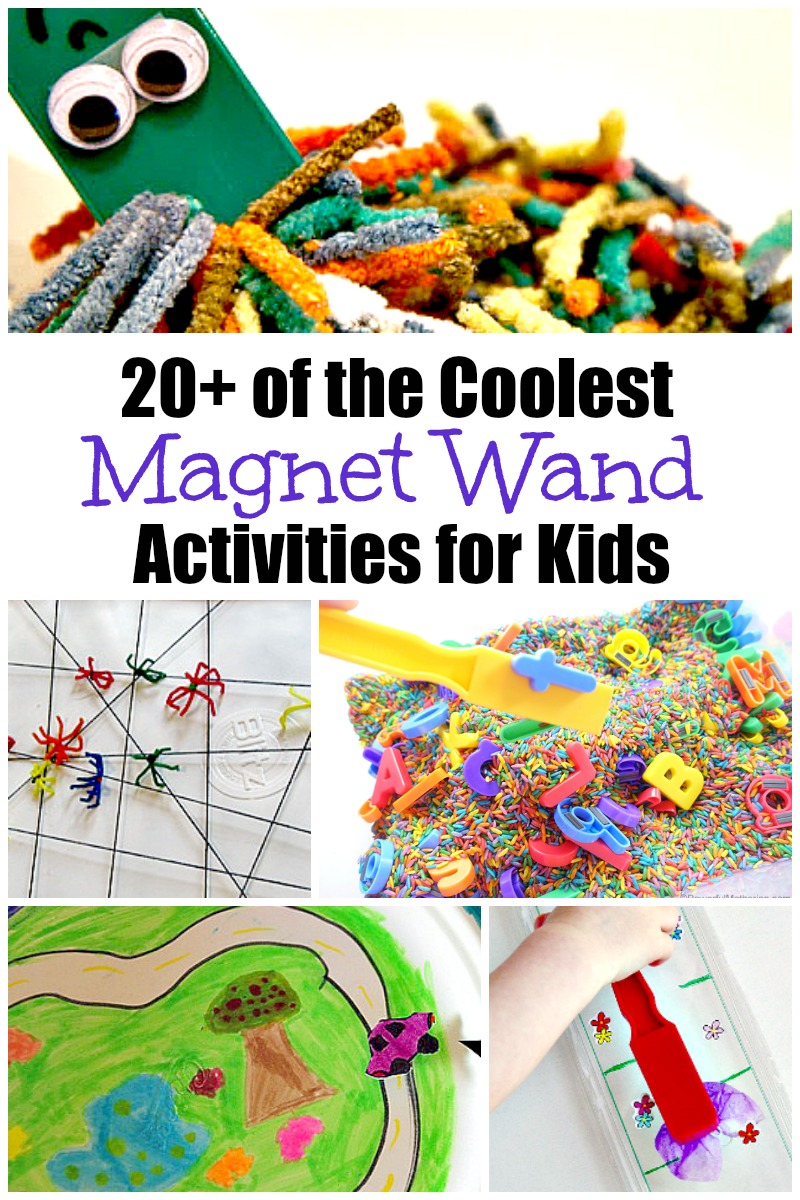 Magnets for Kids- Collection of 20+ of the Coolest Magnet Wand Activities - Love these fun science activities for kids! #magnets #kids #science