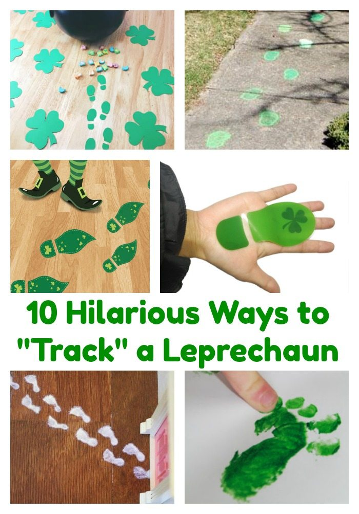 10 Hilarious Ways to Find Leprechaun Tracks for your kids on St. Patrick's Day
