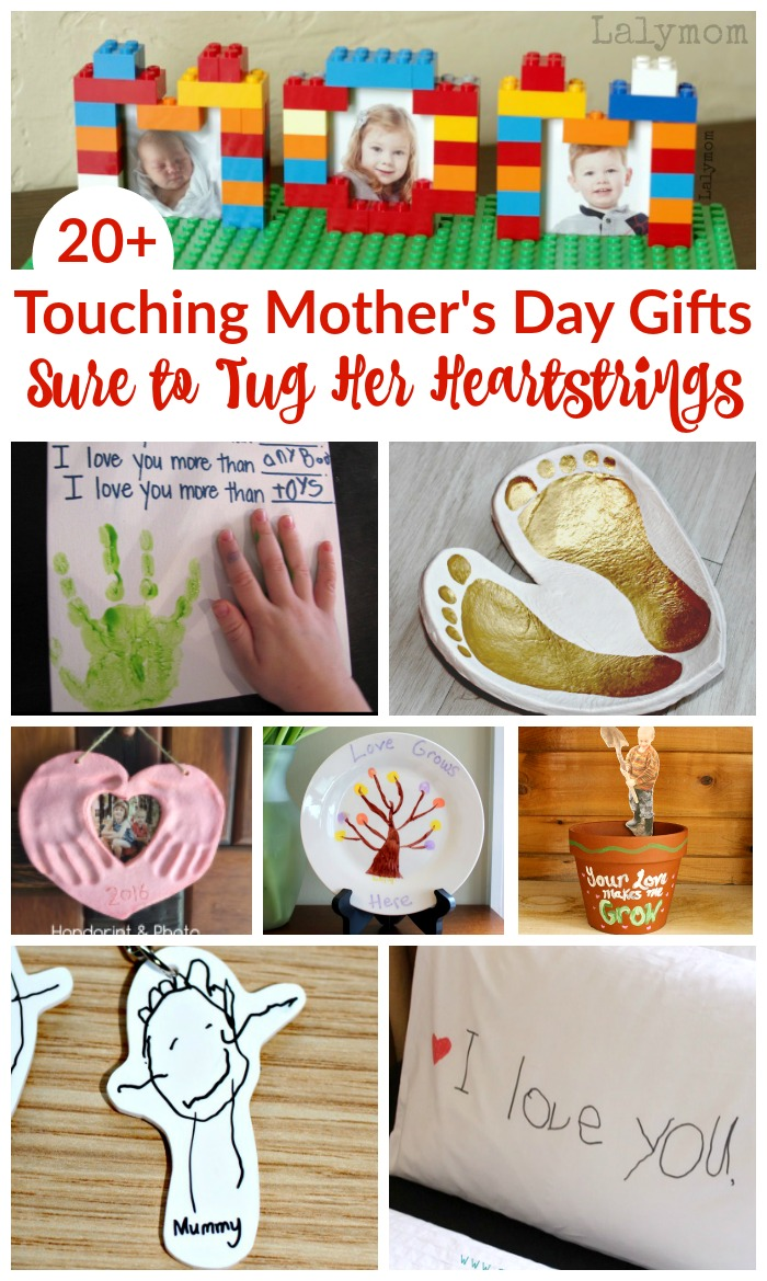 20+ Touching Mother's Day Gifts Sure to Tug Her Heartstrings on Lalymom #mothersday #mom #giftidea #DIY #buy #sweet #sentimental #showyourlove #giftsforher