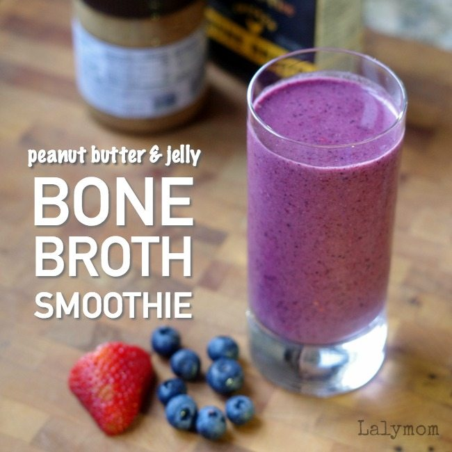 Crazy Delicious Bone Broth Peanut Butter and Jelly Smoothie Recipe