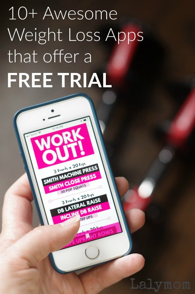 10+ Awesome Weight Loss Apps that Offer a Free Trial - Try out these top premium diet and exercise apps, whether you need help meal planning or getting in a workout! #weightloss #diet #exercise #fitness #app