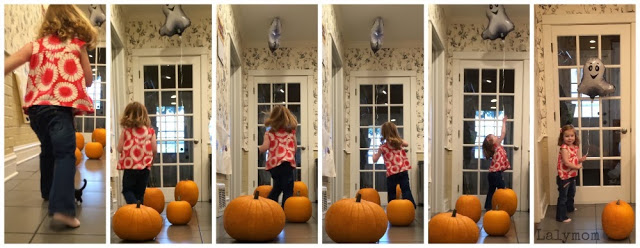 Pumpkin Patch Run Gross Motor Activity for Halloween from Lalymom