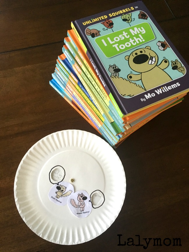 Read the new Mo Willems book I Lost My Tooth! with your kids today and pair it with a fun, easy word wheel book activity. #mowillems #UnlimitedSquirrels #ad Thanks Disney Book Group!