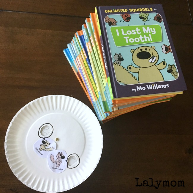 Sight Words Activity for kids - Make a Word Wheel to use along side the new Mo Willems Book, I Lost My Tooth! from the Unlimited Squirrels series #ad @DisneyBooks @DisneyHyperion