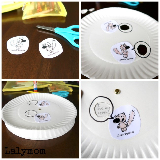 Tutorial for a Fun New Sight Word Wheel. Great kids book activity to pair with Mo Willems' new book, I Lost My Tooth! from the Unlimited Squirrels series..