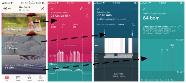 Motiv App Demo for Motiv Ring Fitness Tracker