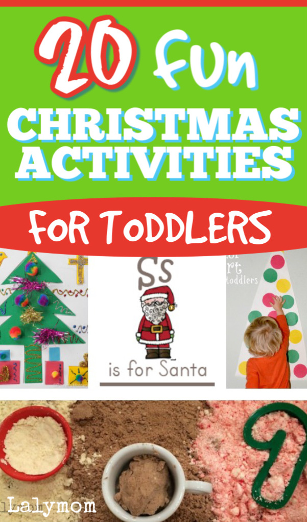 20 FUN Toddler Christmas Activities #toddler #christmas #christmasforkids #christmasactivities