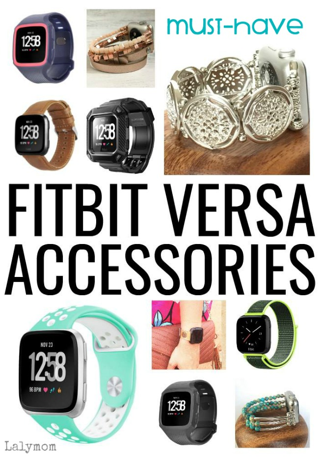 MUST HAVE! Fitbit Versa Accessories - Recplacement Bands, Bracelets and more on Lalymom.com #fitbit #fitness #running #style #exercise