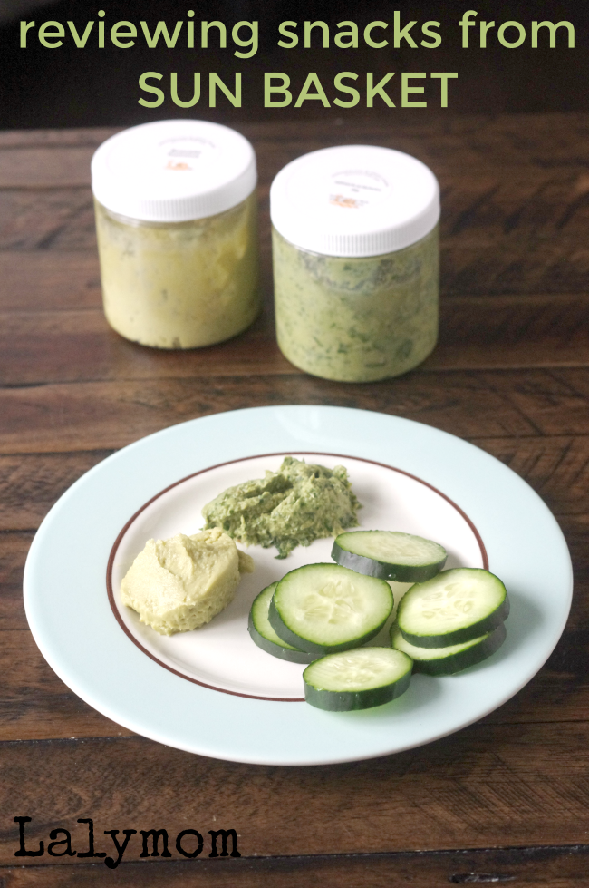 Sun Basket Snacks- Spinach Artichoke Dip and Avocado Hummus