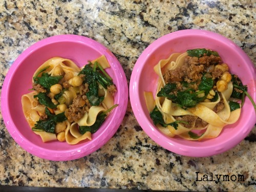 Sun Basket Meals Papparedelle with Chorizo and chickpeas
