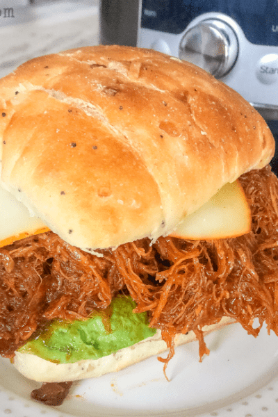 Easy Pressure cooker dinner- BBQ chicken sandwiches using frozen or fresh chicken