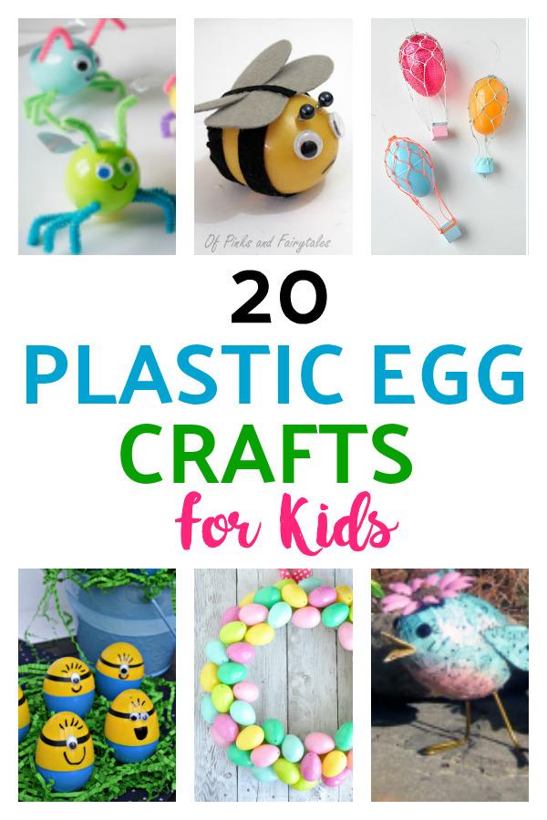Plastic Egg Crafts for Kids