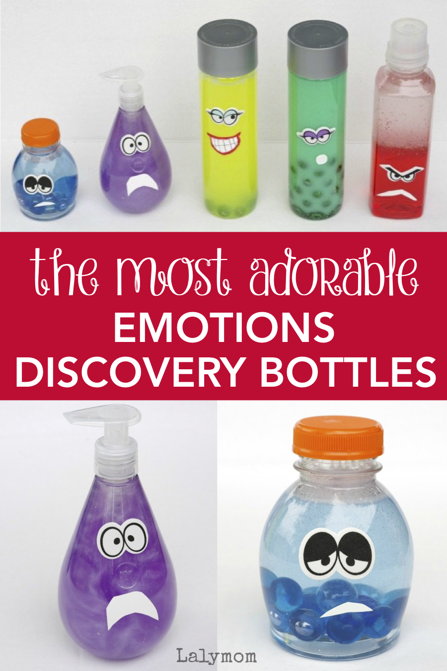 How to make Emotions Discovery Bottles - Help kids learn about emotions