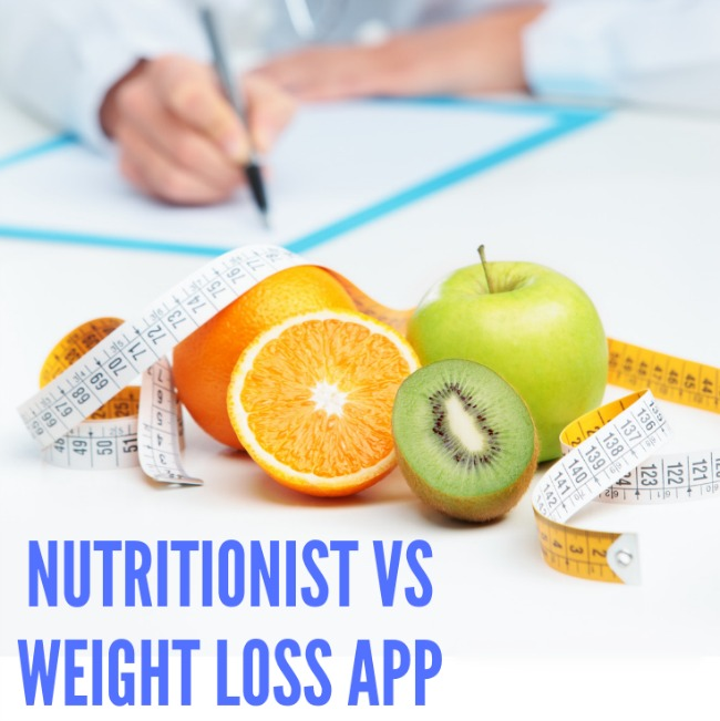 Nutritionist vs weight loss app. pros and cons.
