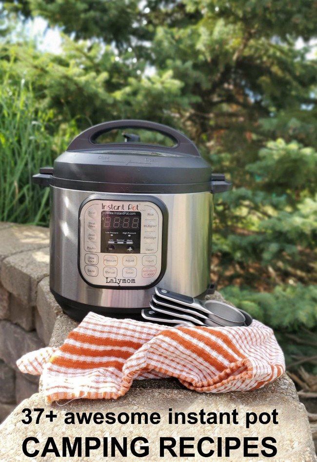 And Instant Pot Brand Pressure Cooker, being used outdoors