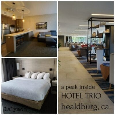 Review and Photos of Hotel Trio in Healdsburg. Perfect for a wine country getaway, girl's weekend, or family vacation.