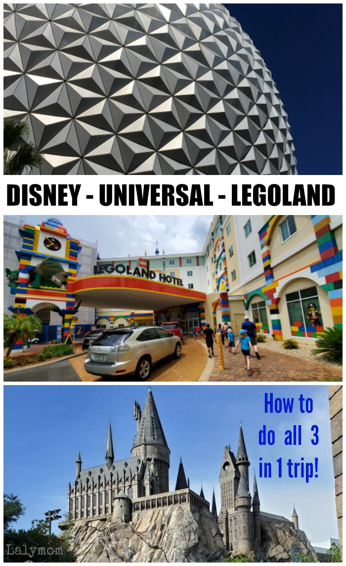Disney Universal and Legoland all in one trip! How to visit all the florida theme parks in one vacation. #travelwithkids #disney #universal #LEGOland