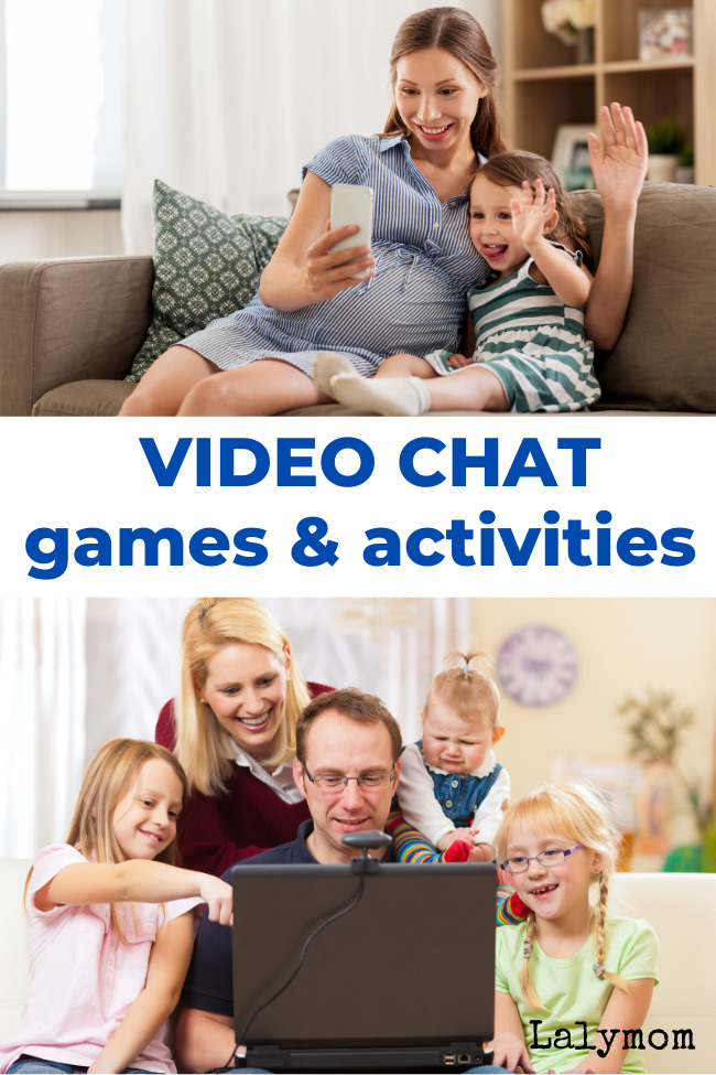 Play Games and Activities over Video Chat - tons of fun ideas for kids to play remotely with friends