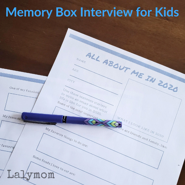 Quarantine Memory Interview - Help your kids document what life was like for them this year.