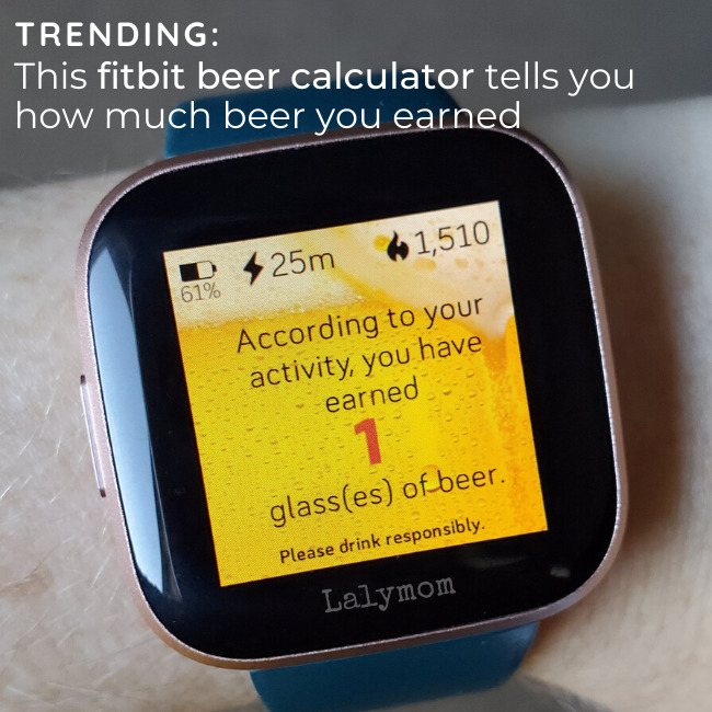See how to get this Fitbit beer calculator that tells you how much beer you earned. Find out if it works on your fitbit and how to set it up.
