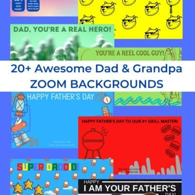20+ Awesome Dad & Grandpa ZOOM BACKGROUNDS perfect for Father's Day, Dad's Birthday or just for fun. Download your free backgrounds today at Lalymom.com