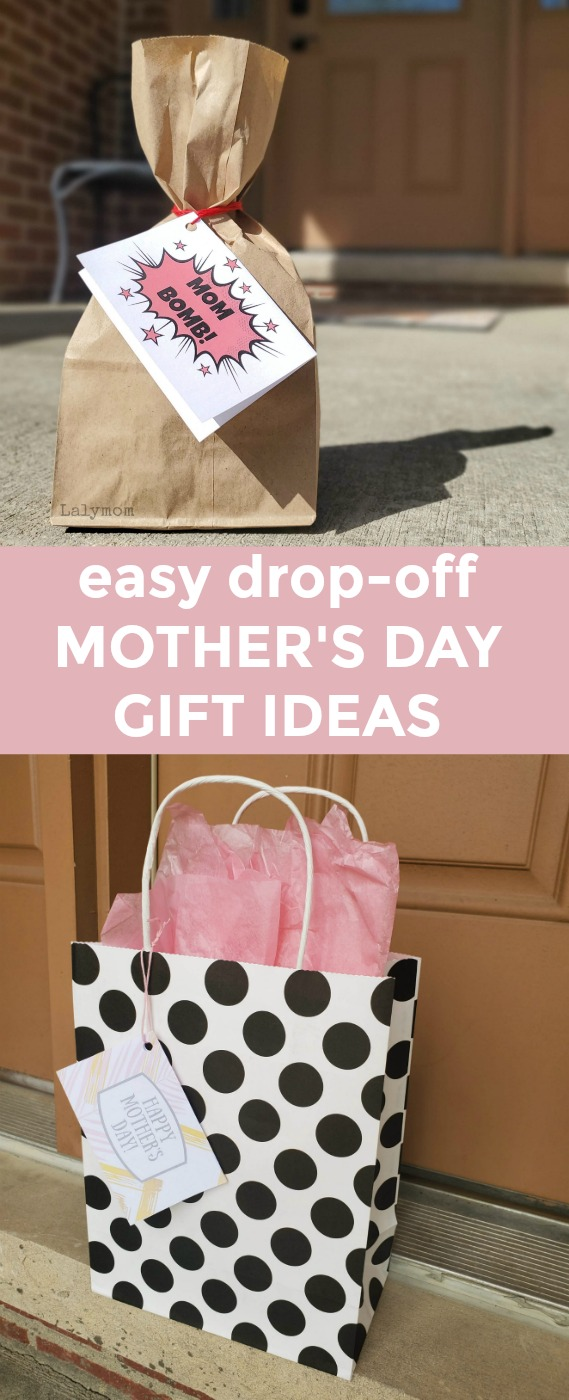 Easy Drop-Off Mother's Day Gift Ideas, plus free printable gift tags from Lalymom