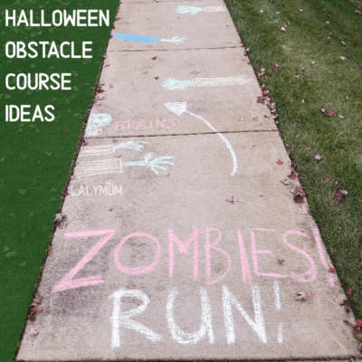 Super Fun Halloween Sidewalk Chalk Obstacle Course Idea 1 Zombies Run
